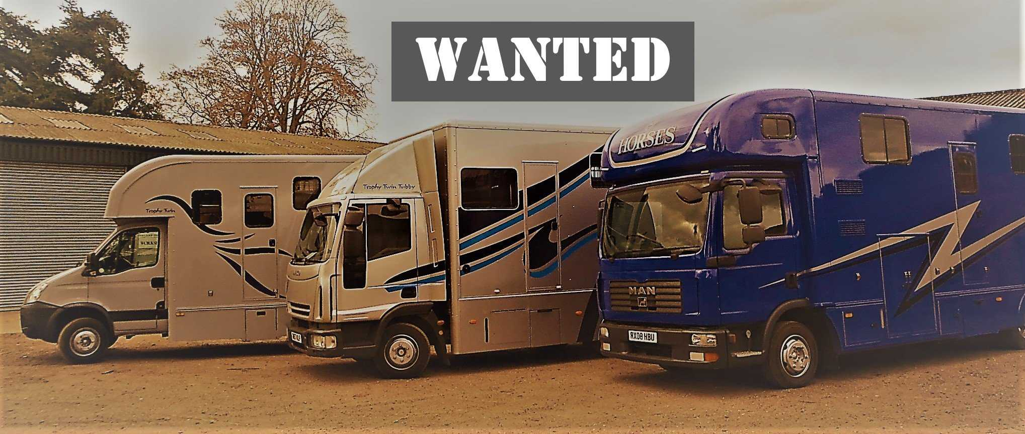 Horse Boxes Wanted
