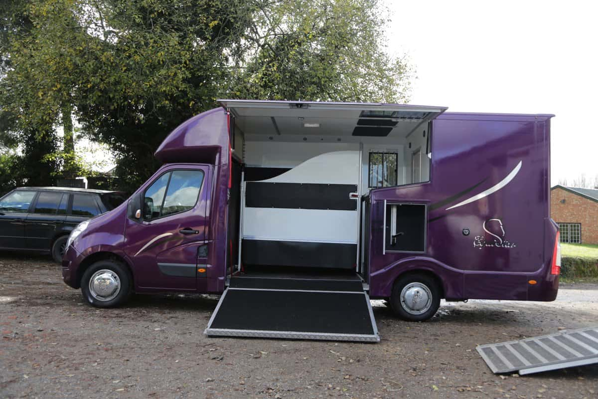 2015 RENAULT 3.5 TONNE HORSE BOX WITH LOTS OF STORAGE
