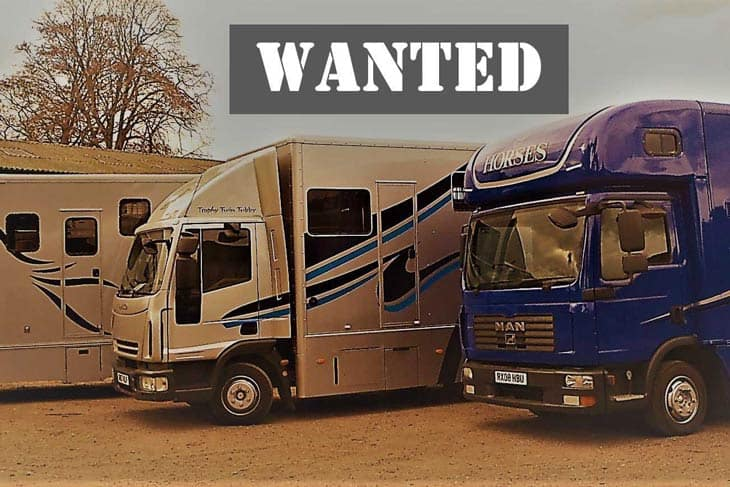 Trophy Twin Horse Boxes Wanted